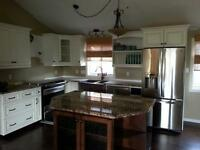 KITCHEN CABINETS, STAIRS, CROWN MOULDING,& FINISHED BASEMENTS