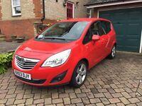 Meriva. Full Vauxhall service. Air con, Sat nav, Bluetooth, 1 owner, flexible seating