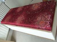 Vintage blanket box lloyd loom / Sirrom style storage furniture chest 90cm X 38cm Height 45cm