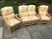 Conservatory couch and two chairs. Good condition.