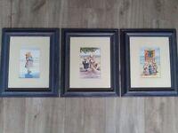 3 x Faye Whittakar Watercolour Prints