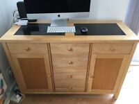 Dining Table, Sideboard and Drinks Cabinet - Black Granite - Matching set :)