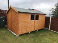 10x8 APEX ROOF GARDEN SHEDS (HIGH QUALITY) £649.00 ANY SIZE (FREE DELIVERY AND INSTALLATION)