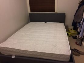 KING SIZE BED WITH MATTRESS AND STORAGE