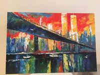 Wrapped canvas painting from NYC Soho artist