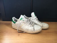 Adidas Stan Smith, White - Green, (SIZE UK 11.5) in great condition