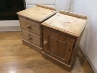 2x solid pine chest of drawers with dovetail joints