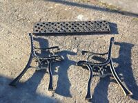 Garden cast iron Bench ends and back brace