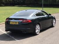2009 JAGUAR XFR V8 550BHP BEST COMBO BOTANICAL GREEN WITH WHITE IVORY LEATHER XF-R XF R M5 M6 RS6