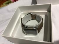 Apple Watch Series 1 42mm Stainless Steel with leather Band.
