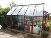 Large Timber Greenhouse with glass glazing to give away