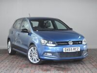 VOLKSWAGEN POLO 1.4 TSI ACT BLUEGT 5DR (blue) 2015