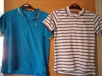 2 polo shirts age 9-10