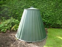 Green Compost Bin for the Garden, H:84cm x D:94cm, Used