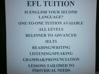 EFL TUITION. Qualified EFL tutor available for all levels.