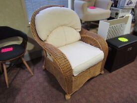 wicker easy chair