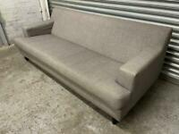 FREE DELIVERY CONTEMPORARY GREY FABRIC 2 SEATER SOFA GREAT CONDITION