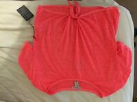 Forever21 Coral Crop Knot T-Shirt Size M