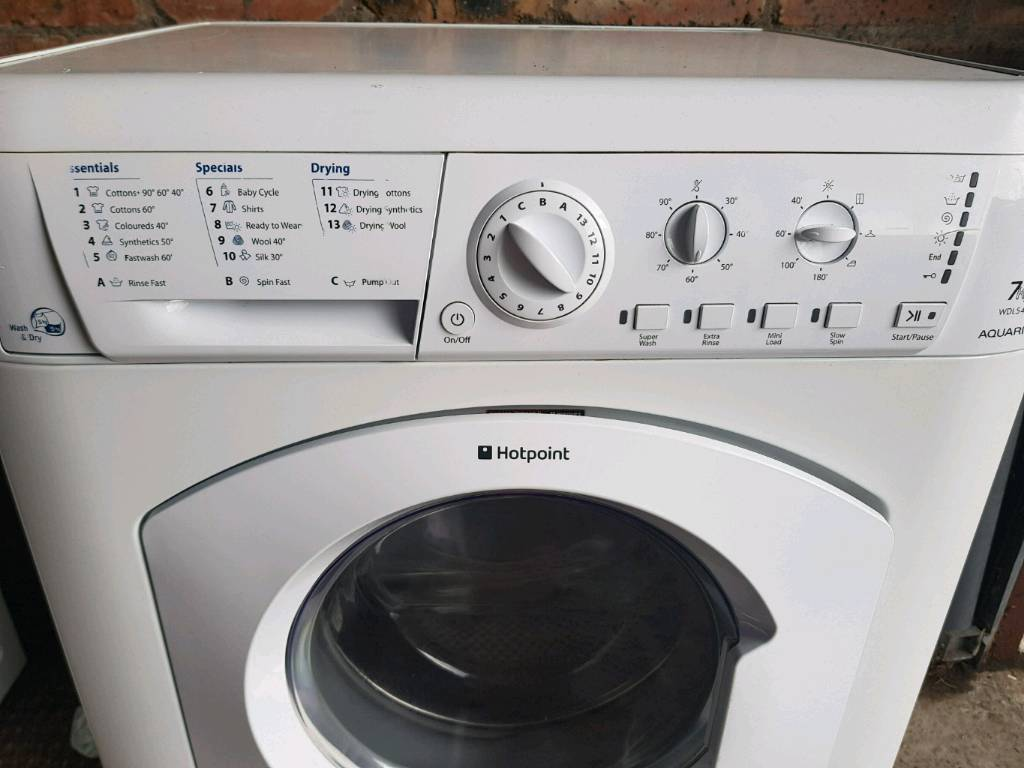 Tumble Dryer And Washing Combined Machine ~ Hotpoint kg washing machine and tumble dryer in dundee