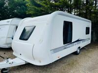 Hobby caravan 560 excellent (2013) single axle, island bed. Like fendt/tabbert