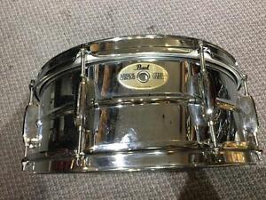 Pearl snare steel shell 14x5 Peau Remo ambassador neuve