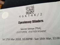 Speakeasy Blinders tickets