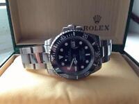 Mens Rolex Submariner Wrist Watch Boxed