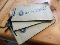 3 x fascinating Senior Service Cigarette Card Albums