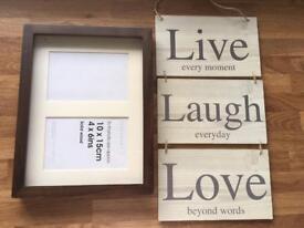 Wooden box photo frame