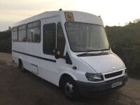 53 REG FORD TRANSIT MINIBUS WITH OVER £25000 POUNDSOF SERVICE HISTORY IN VGC SUPERB DRIVES LIKE NEW