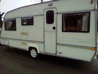 Abi elegance 500ct 5 berth caravan 1995 no damp with full awning