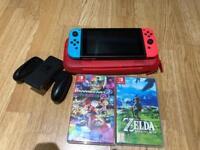 Nintendo Switch, Case + 2 games