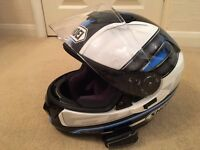 New Shoei GT-Air Dauntless Motorcycle Helmet Medium With Scala Rider Q1 Fitted