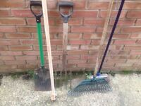 SELECTION OF GARDEN HAND TOOLS ,VARIOUS PRICES