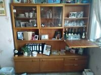 Vintage Portwood display cabinet & Coffee tables