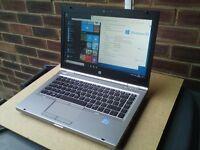 "HP Elitebook 8470p i7-3540M 3.0Ghz (3.7 turbo) 16GB RAM 500GB Windows 10 Aluminium 14"" Laptop AS NEW"