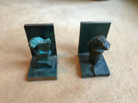 Four sets of antique bookends - check description for pricing