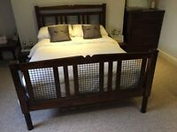 Morocco Double Bed Frame (& mattress)