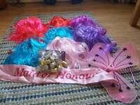Colourful party wigs