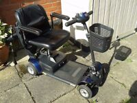Very handy lightweight Mobility Scooter. Good working order. Will sell with Shed if required.