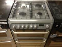 Silver Hotpoint gas cooker (duel fuel)
