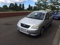 Toyota Corolla 1.6 vvti with long mot