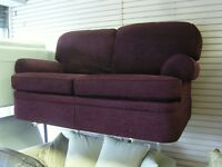 Stunning Large 2 Seater Sofa Settee Marks and Spencers in Purple. Absolute Mint Condition.