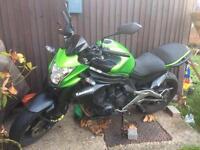 ER6N Kawasaki motor bike 2014