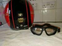 Motorcycle helmet by blacks xl
