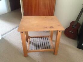 Wooden/metal side table