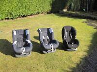 Child Car Seats. 2 Britax 'First Class Plus' / 1 Maxi Cosi