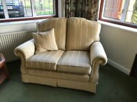 2No Two Seater Sofas, 3No Arm Chairs Plus Footstool