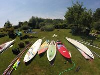 4 different wind surfers for sale make an offer/ 3 mast and one sayle