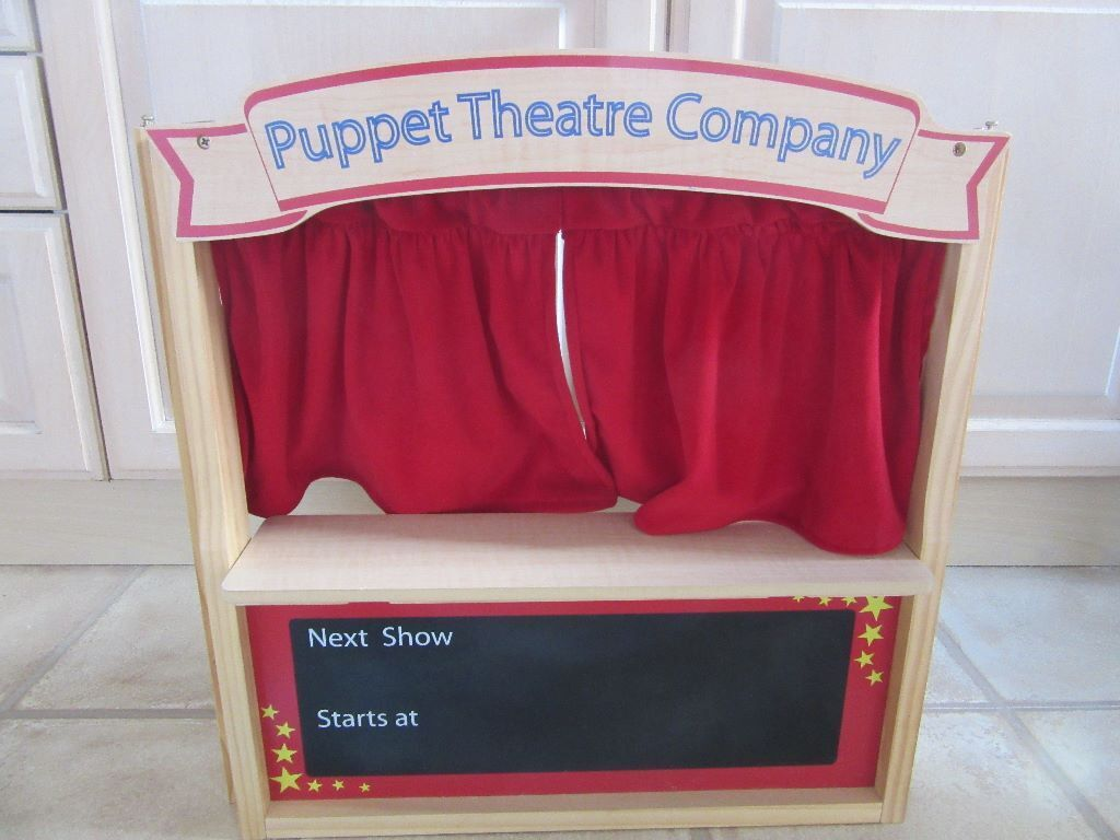 Kids Toy Elc Wooden Puppet Theatre And Finger Puppets